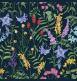 natural seamless pattern with wild blooming vector image vector image