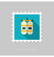 Oxygen tank flat stamp Summer Vacation vector image