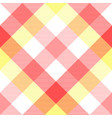 pink baby color plaid seamless pattern vector image vector image