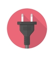 Power plug icon vector image