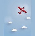 red plane flying on the skythe do the same vector image
