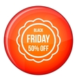 Sale sticker 50 percent off icon flat style vector image