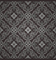 seamless luxury ornamental background damask vector image vector image