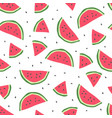 seamless pattern with cute watermelon vector image vector image