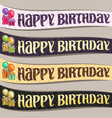 set of birthday ribbons vector image vector image