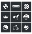 Set of Sport Icons Soccer Biathlon vector image