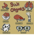 sick organs set vector image
