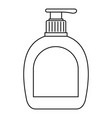 soap bottle icon outline style vector image vector image