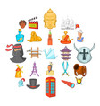 story icons set cartoon style vector image vector image