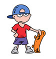 teenager cartoon hand drawn image vector image