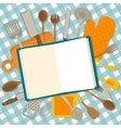 The cookbook concept vector image