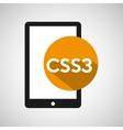 web development smartphone css3 vector image vector image