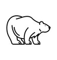 white bear line icon concept sign outline vector image vector image