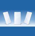 white mobile phone smartphone mockup vector image