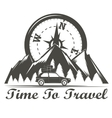 Wilderness travel emblem vector image