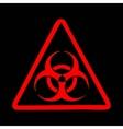 Biohazard symbol sign vector image