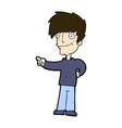 comic cartoon man pointing vector image