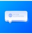 Clean speech bubble vector image