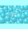 abstract background with realistic 3d sphere vector image vector image