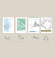 abstract brochures from lines vector image vector image