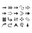 arrows direction guide cursor web navigation icons vector image
