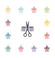 barbershop flat icons set vector image