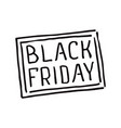 black friday hand lettering stamp vector image