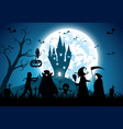blue background conceptfestival halloweenfull vector image vector image