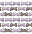 bow seamless hipster pattern vector image