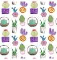 cactus and succulent hand drawing vector image