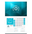 Calendar for 2016 Year March Design Clean Template vector image