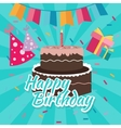 celebrate happy birthday cake flat vector image