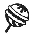 choco lollipop icon simple style vector image