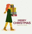 christmas cards design flat vector image vector image