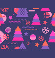 christmas seamless pattern memphis with vector image vector image