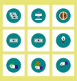 collection of icons in flat style economic vector image vector image