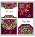 Colorful floral design elements vector image vector image
