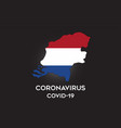 coronavirus in netherlands and country flag vector image vector image