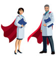 doctor superheroes on white vector image vector image