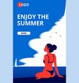 enjoy summer landing page template vector image vector image