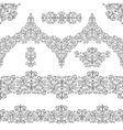 Ethnic seamless pattern borderselementsSwirls vector image vector image
