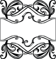 filigree ornament frame vector image vector image