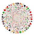 gambling fireworks sphere vector image vector image
