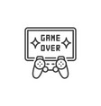 game over concept icon gamepad with tv vector image vector image