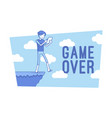 game over lineart concept vector image