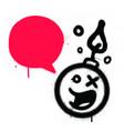 graffiti talking bomb sprayed over white vector image vector image