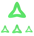 Green line triangle logo design set vector image vector image