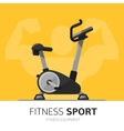 Gym equipment concept Exercise Bike icon vector image vector image