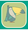hand drawn retro cartoon bird vector image vector image