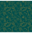 Hand-drawn seamless african music pattern vector image